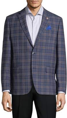 Ben Sherman Men's Plaid Wool Sportcoat