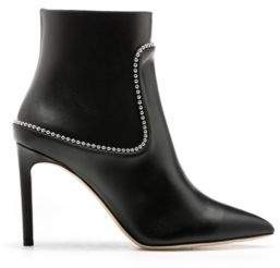 HUGO Boss Heeled ankle boots in calf leather studs 9 Black
