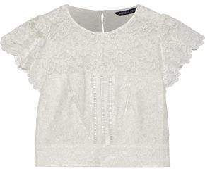 Marissa Webb Imani Open-back Cropped Corded Lace Top