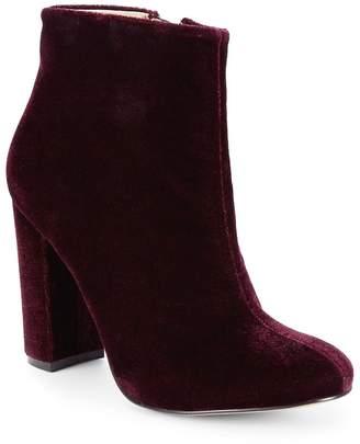 Maiden Lane Women's Velvet Block-Heel Booties