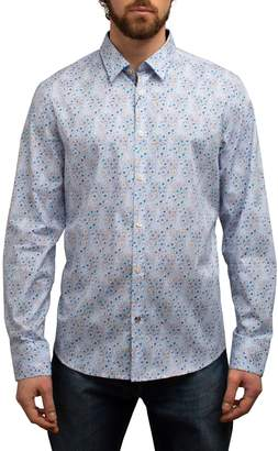 John Lennon Allover Retro Daisies Regular-Fit Button-Down Shirt