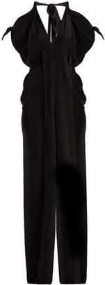 Roland Mouret Hessle open-shoulder silk-crepe gown