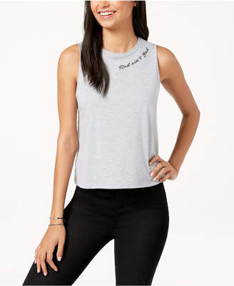 Rebellious One Juniors' Rad Ain't Bad Muscle Tank Top