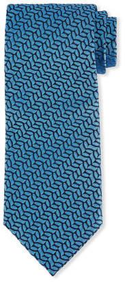 Charvet Vine-Striped Silk Tie