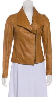 Vince Zip-Up Leather Jacket