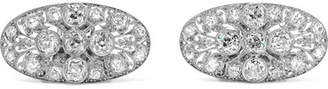 Fred Leighton 1910 Platinum Diamond Shoe Clips - Silver