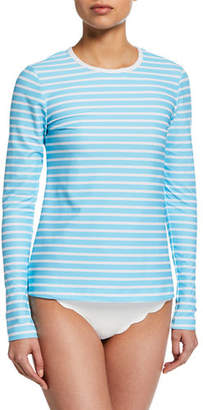 Cover Perfect Striped Long-Sleeve Swim Tee