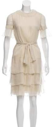 J. Mendel Silk Ruffled Dress