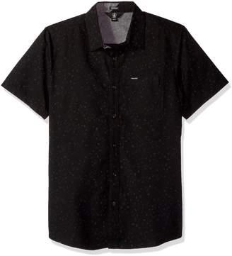 Volcom Young Men's Men's Smashed Start Button Up Short Sleeve Shirt Shirt