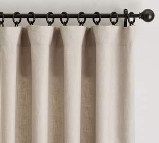 Pottery Barn Classic Belgian Flax Linen Blackout Curtain - Dark Flax