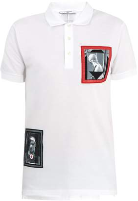 Givenchy Columbian patch cotton-piqué polo shirt