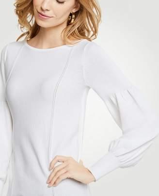 Ann Taylor Petite Lacy Lantern Sleeve Sweater