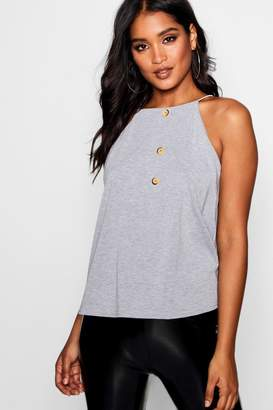 boohoo Square Neck Horn Button Swing Cami