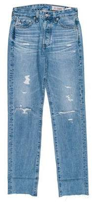 Adriano Goldschmied Mid-Rise Distressed Jeans