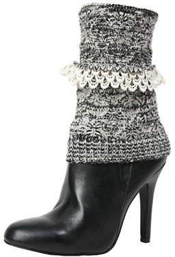 Me Moi MEMOI Womens Crochet Droplets Boot Topper