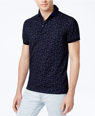 Tommy Hilfiger Men's Slim-Fit Floral Polo $99 thestylecure.com