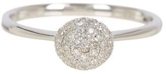 Effy 14K White Gold Pave Diamond Round Dome Ring - 0.23 ctw