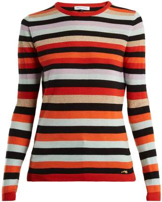 Bella Freud Lolita striped wool and cashmere sweater