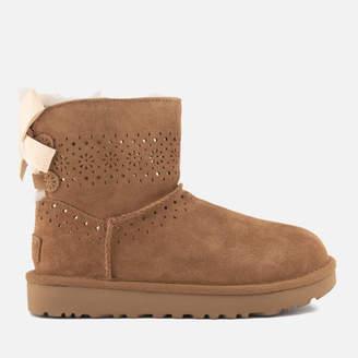 UGG Women's Dae Sunshine Perf Suede Sheepskin Boots - Chestnut