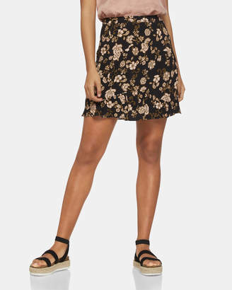 Oxford Forte Black Floral Skirt
