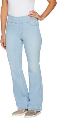 Denim & Co. Perfect Denim Regular Smooth Waist Lightly Bootcut Jeans