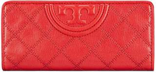 Tory Burch FLEMING DISTRESSED LEATHER SLIM ENVELOPE WALLET