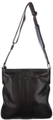 Burberry Grained Leather Zip Crossbody Bag