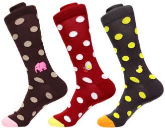 Soxfords Colorful Pima Dress Socks - 3 Pair Set