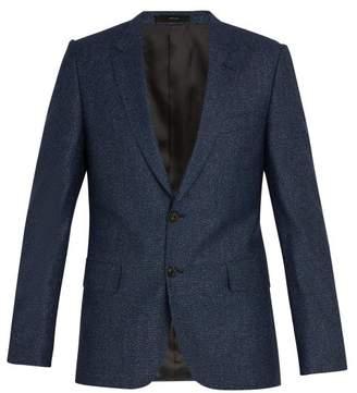 Paul Smith Slim Fit Melange Wool And Silk Blend Jacket - Mens - Blue