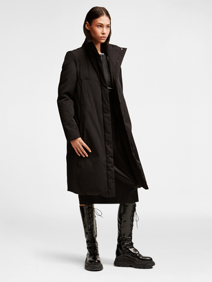 DKNY Pure Removable Sleeve Coat $798 thestylecure.com