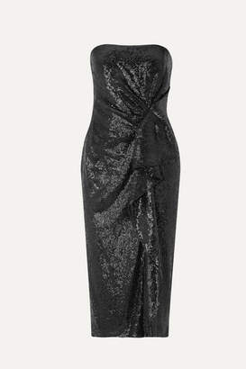 Rachel Zoe Krista Ruffled Sequined Crepe Midi Dress - Black