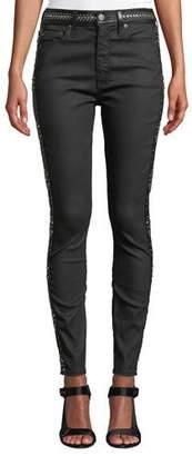 Alice + Olivia AO.LA by Alice+Olivia Good High-Rise Studded Ankle Skinny Jeans