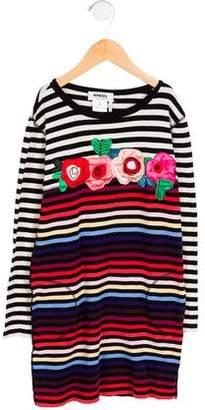 Rykiel Enfant Girls' Striped Long Sleeve Dress