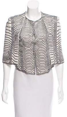 Sass & Bide Embellished Silk Top