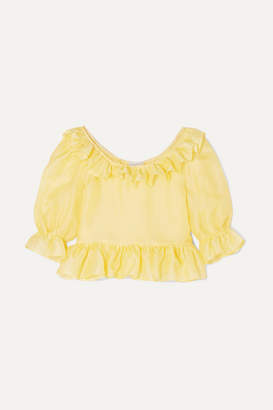 MaisonCléo - Delia Ruffled Silk-organza Blouse - Yellow