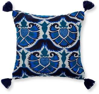 "Madura Jazzy Peacock Decorative Pillow Cover, 16"" x 16"""