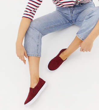 Asos DESIGN Wide Fit Dianna slip on plimsolls