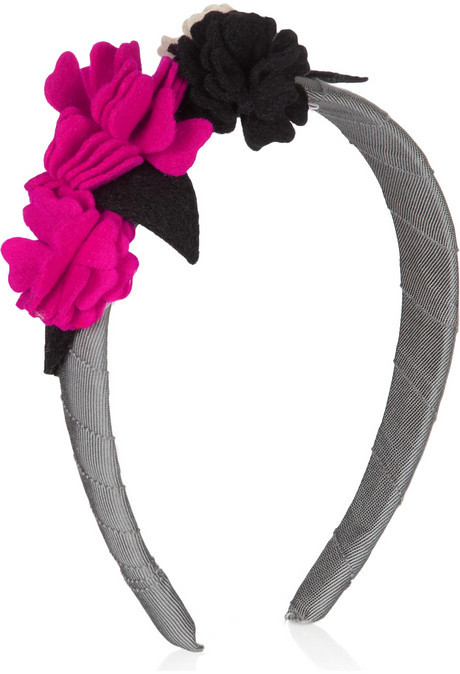 Olympia Le-Tan Felt flower-embellished grosgrain headband
