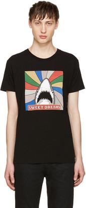 Saint Laurent Black Sweet Dreams Shark T-Shirt $350 thestylecure.com