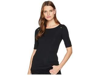 Lauren Ralph Lauren Poplin Bell-Sleeve Top Women's Clothing
