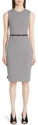 Max Mara Destino Checkered Jacquard Sheath Dress