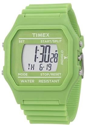 Timex Unisex 80 Jumbo Face Green Classic Digital Watch T2N245