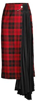 Mother of Pearl Women's Marita Pleated Plaid Midi Skirt