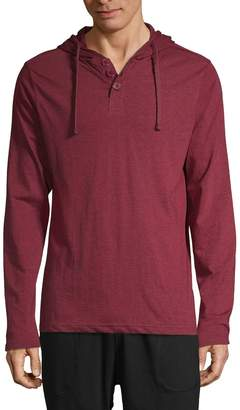 Unsimply Stitched Hooded Long-Sleeve Shirt