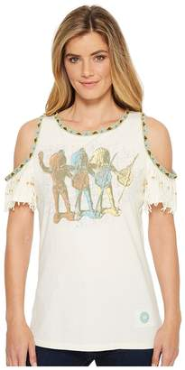 Double D Ranchwear Peace Makers Top Women's Clothing