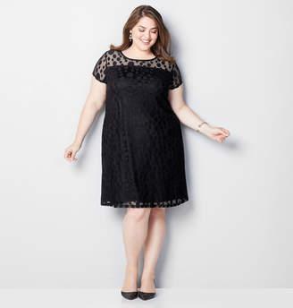 Avenue Mesh Dot Sheath Dress