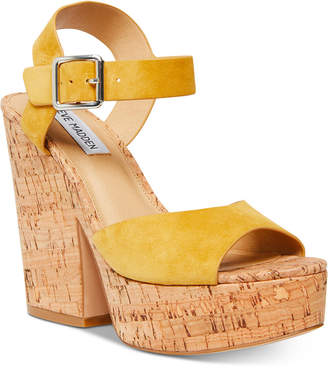ca0dfc2a883 Yellow Cork Platform Women's Sandals - ShopStyle