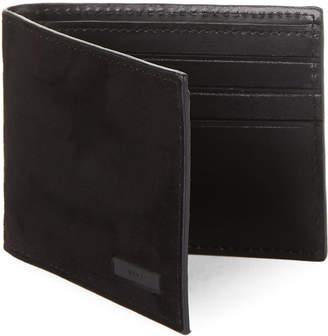 DKNY Black Suede Billfold Wallet