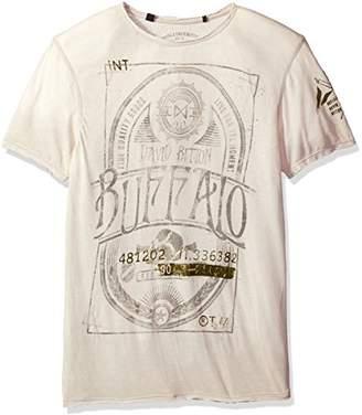 Buffalo David Bitton Men's Titwin Ss Crewneck Burnout Fabric Fashion Graphic T-Shirt
