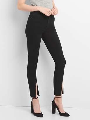 Gap High Rise True Skinny Ankle Jeans in Everblack